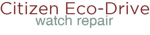 citizen eco drive repair